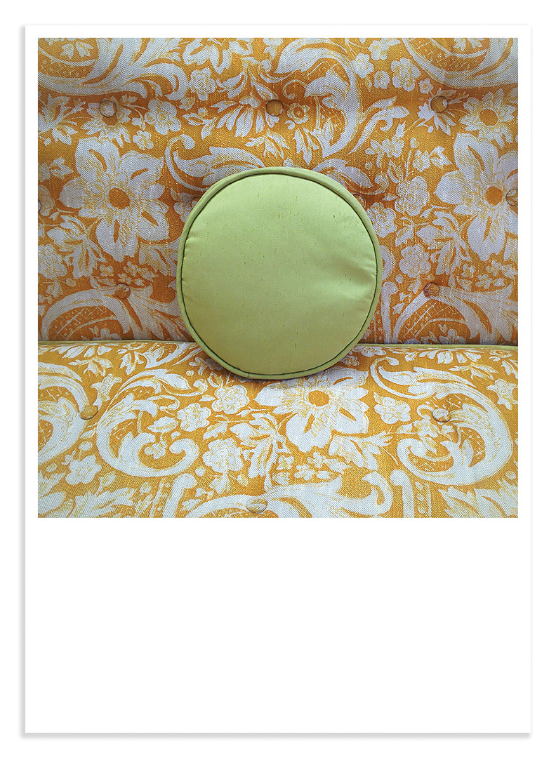 Treasures #22 green couch pillow